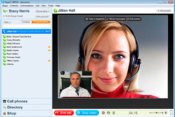 consulta virtual con skype